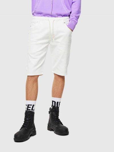 ברמודה ג'וג בגזרה צרה, בצבעלבן, בעל תיפורי טון על טון בצבע לבן. למכנס חגורת גומי אלסטית ושרוך. חשוב לציין כי המכנס הוא שילוב ייחודי וראשון מסוגו המשלב תפירה בצורת שתי וערב של שני סוגי בד- פוטר ודנים, לנוחות מירבית.