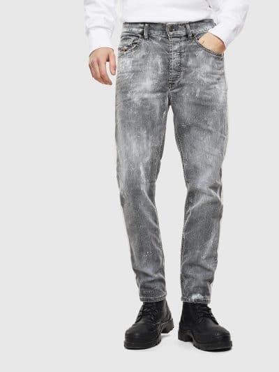 מכנסי ג׳ינס בגזרת גזר, רחבה יותר בחלק העליון ,בעלי מפשעה נמוכה, וצמודים מהירכיים עד הקרסוליים