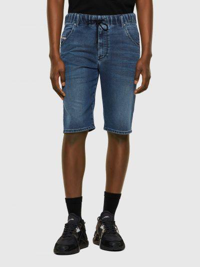 ברמודת ג'וג בגזרה צרה באורך הברך ובצבע כחול קלאסי. למכנס חגורת גומי אלסטית ושרוך. המכנס הוא שילוב ייחודי וראשון מסוגו המשלב תפירה בצורת שתי וערב