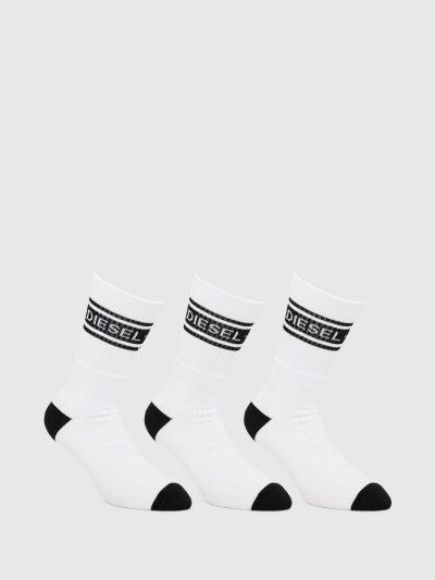 גרביים לבנים עם לוגו דיזל-