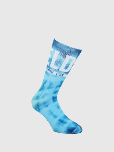 גרביים בהדפס כחול עם לוגו-