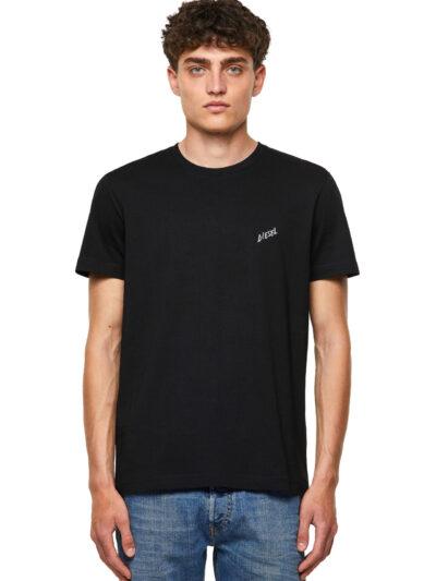 חולצת טי, שרוולים קצרים, צבע שחור, לוגו דיזל קטן כתב יד בצד החזה