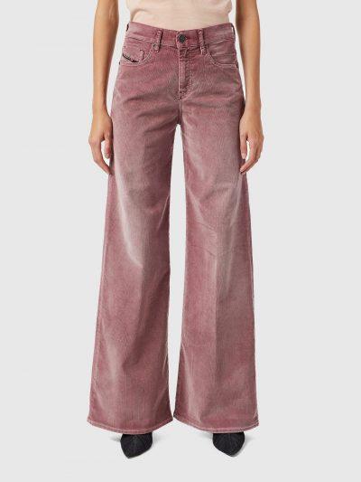 ג׳ינס, בר קורדרוי, צבע ורוד, גזרה רחבה ומתרחבת, צמוד במותן ובישבן ומתרחב מהירכיים ומטה
