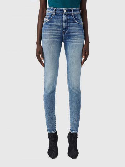 ג׳ינס, גזרת סופר סקיני לכל אורכו, גזרה גבוהה, צבע כחול בהיר